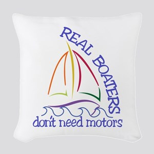 Real Boaters Woven Throw Pillow