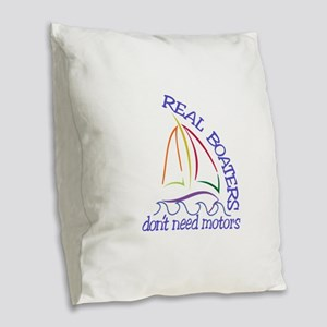 Real Boaters Burlap Throw Pillow