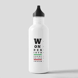 Wonder is the Beginning of Wisdom Water Bottle