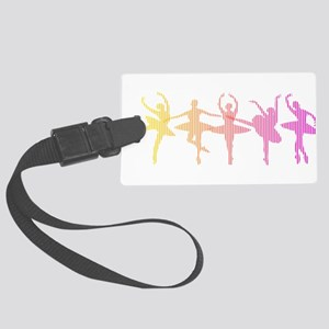 Ballerina Colors Large Luggage Tag