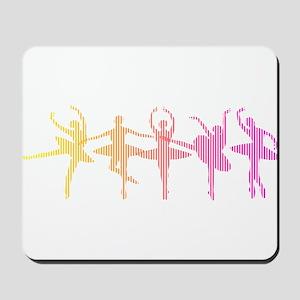 Ballerina Colors Mousepad