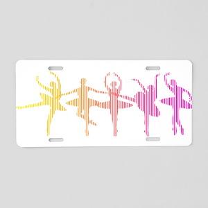 Ballerina Colors Aluminum License Plate