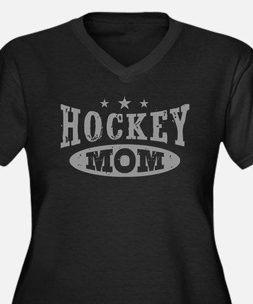 Hockey Mom Women's Plus Size V-Neck Dark T-Shirt