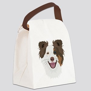 Illustration happy dogs face Bord Canvas Lunch Bag
