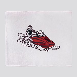 Snowmobile Throw Blanket