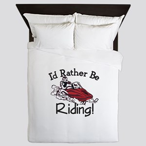 Id Rather Be Riding Queen Duvet