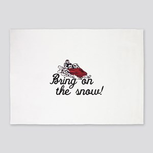 Bring on the Snow 5'x7'Area Rug