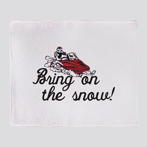 Bring on the Snow Throw Blanket