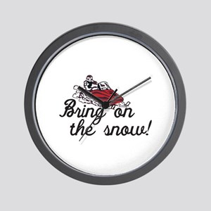 Bring on the Snow Wall Clock
