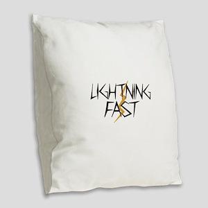 Lightning Fast Burlap Throw Pillow