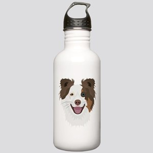 Illustration happy dog Stainless Water Bottle 1.0L