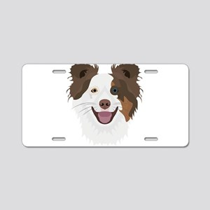 Illustration happy dogs fac Aluminum License Plate