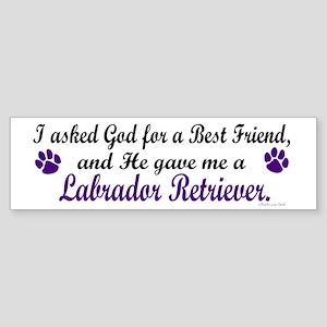God Gave Me A Labrador Retriever Bumper Sticker
