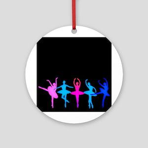 Bright Colorful Dancers Ornament (Round)
