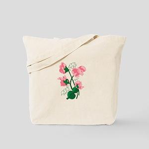 Sweet peas Tote Bag