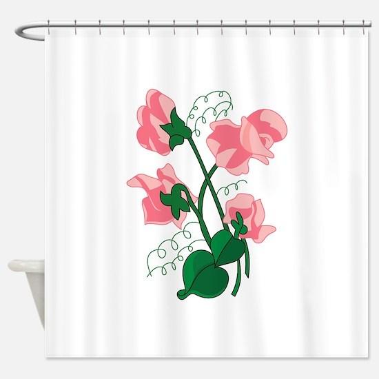 Sweet peas Shower Curtain