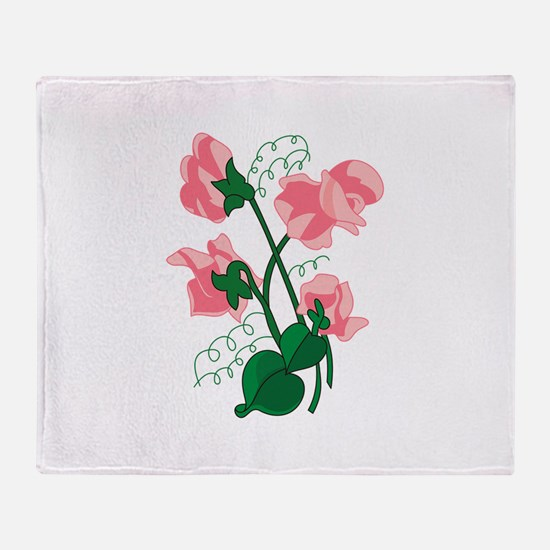 Sweet peas Throw Blanket