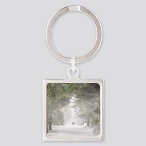Lovers in the Snow Keychains