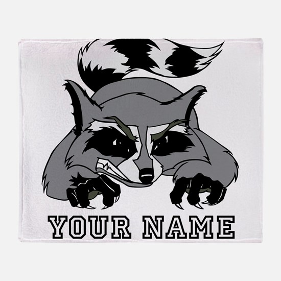 Raccoon (Custom) Throw Blanket
