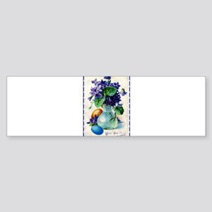 Easter Violets Vintage (bumper) Bumper Sticker