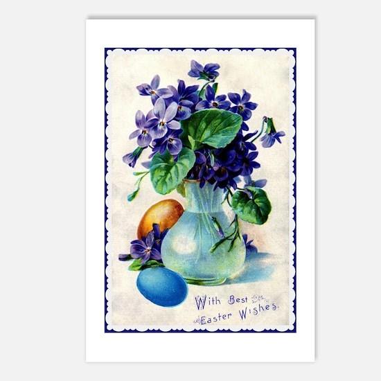 Easter Violets Vintage Postcards (package Of 8)