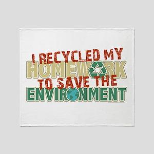Recycled Homework Throw Blanket
