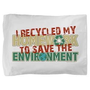 Recycled Homework Pillow Sham