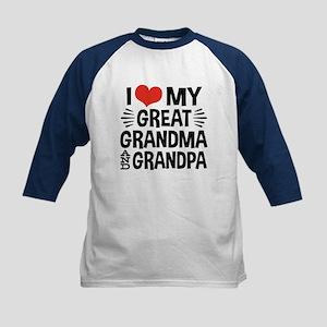 Great Grandma and Grandpa Kids Baseball Jersey