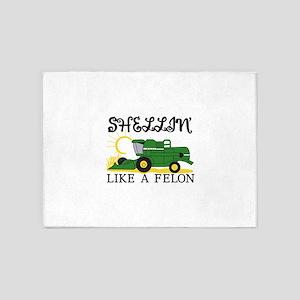 Shellin Like a Felon 5'x7'Area Rug