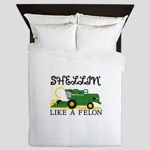 Shellin Like a Felon Queen Duvet