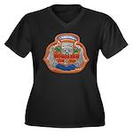 USS HONOLULU Women's Plus Size V-Neck Dark T-Shirt