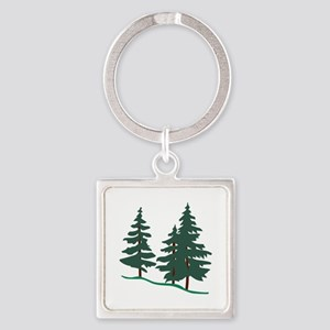 Evergreen Trees Keychains