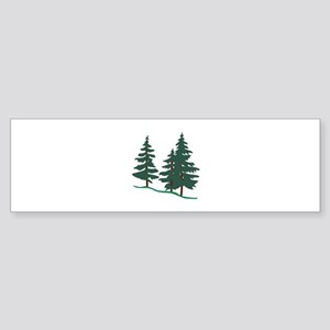 Evergreen Trees Bumper Sticker