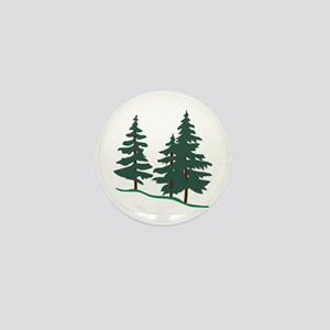 Evergreen Trees Mini Button