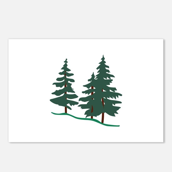 Evergreen Trees Postcards (Package of 8)