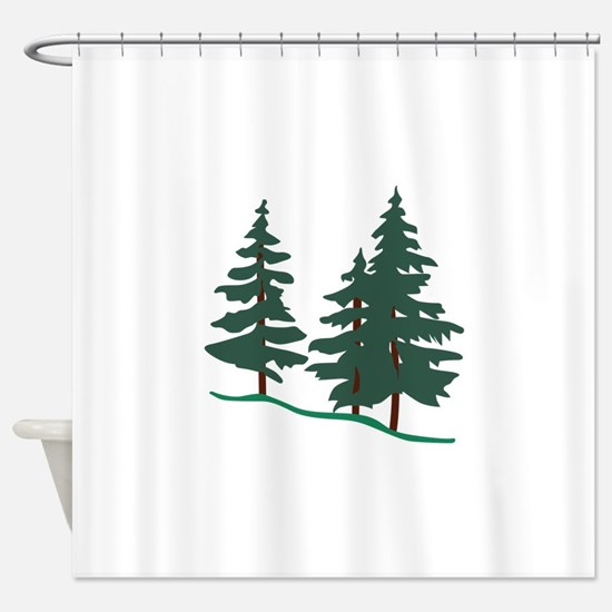 Evergreen Trees Shower Curtain