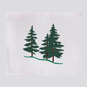 Evergreen Trees Throw Blanket