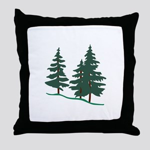 Evergreen Trees Throw Pillow