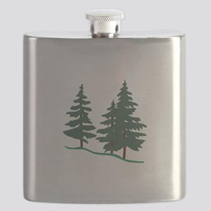 Evergreen Trees Flask