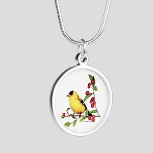 Goldfinch Silver Round Necklace
