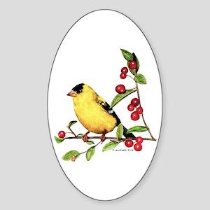 Goldfinch Sticker (Oval)