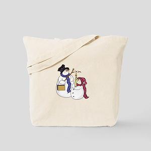 Snowmen Roasting Tote Bag