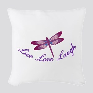 Live, Laugh, Love Woven Throw Pillow