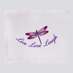 Live, Laugh, Love Throw Blanket