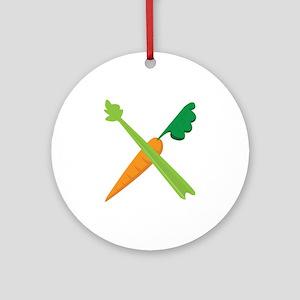 Celery & Carrot Ornament (Round)