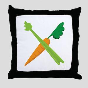 Celery & Carrot Throw Pillow