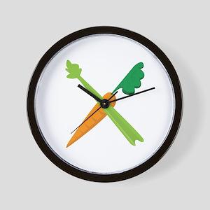 Celery & Carrot Wall Clock
