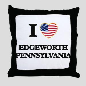 I love Edgeworth Pennsylvania Throw Pillow