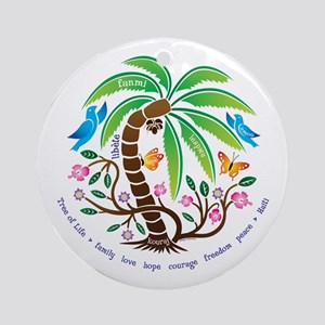 Ornament (Round)/Tree of Life/Tropical