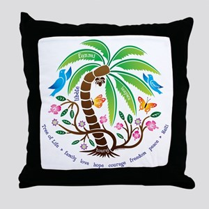 Throw Pillow/Tree of Life/Tropical